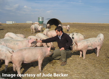 Jude Becker of Becker Lane Organic Farm