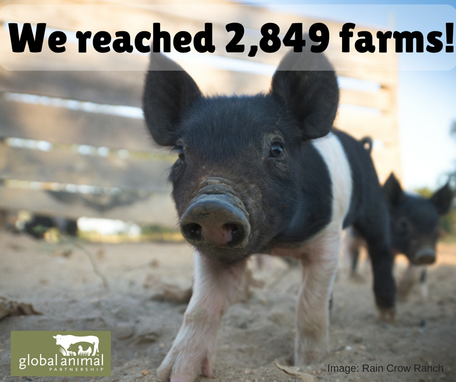 We Have 2849 Farms in the GAP Program!
