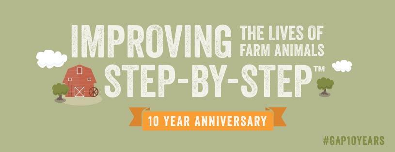 Global Animal Partnership 10th Anniversary Header