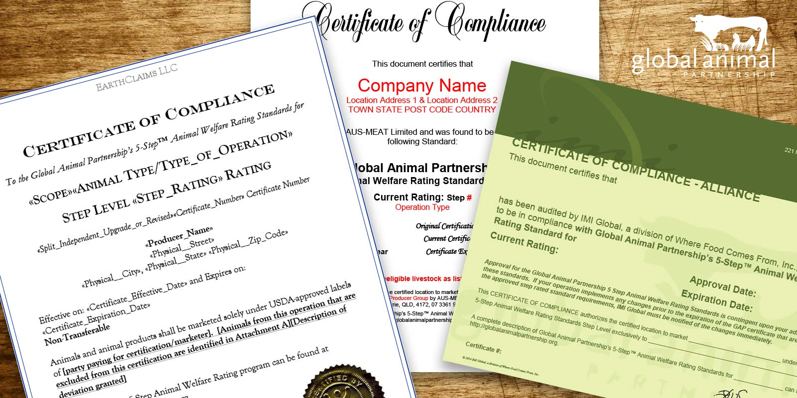 G.A.P. Certificate - Farm Animal Welfare Standards