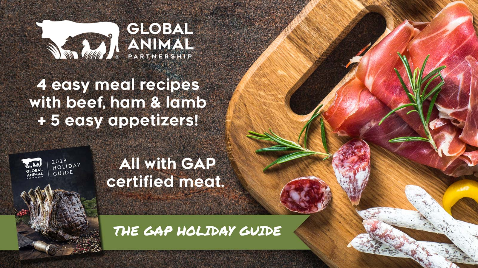 Get the FREE Global Animal Partnership Holiday Guide