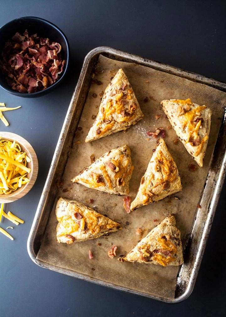 Bacon Cheddar Scones - #MakeItGAP Recipe