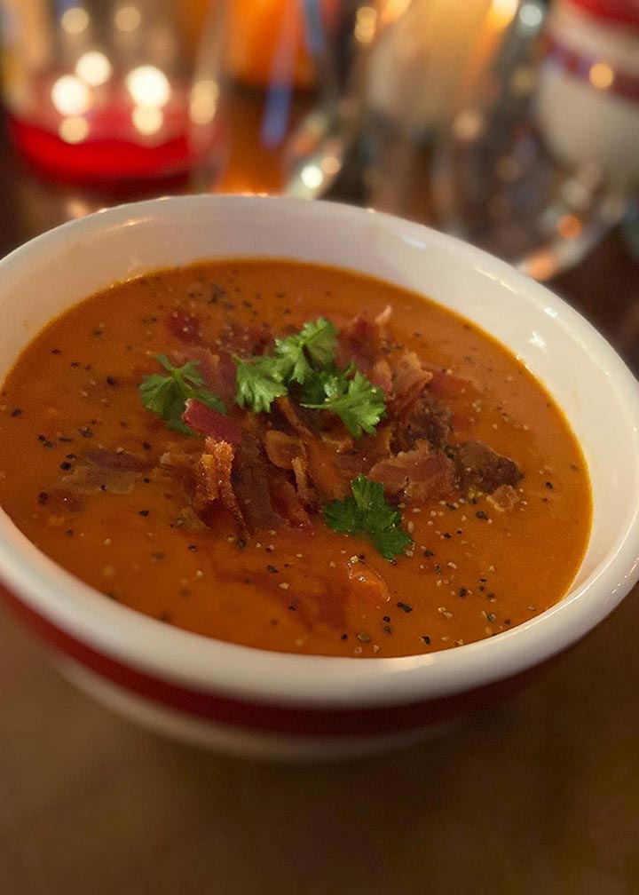 Bacon Tomato Soup - #MakeItGAP Recipe