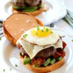 Brunch Burger with Avocado, Bacon, & Fried Egg