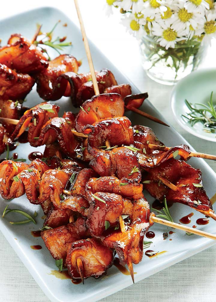 Grilled Balsamic-Molasses Bacon Skewers - #MakeitGAP Recipe - Global Animal Partnership