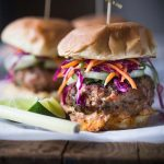 Thai Turkey Burgers with Asian Slaw