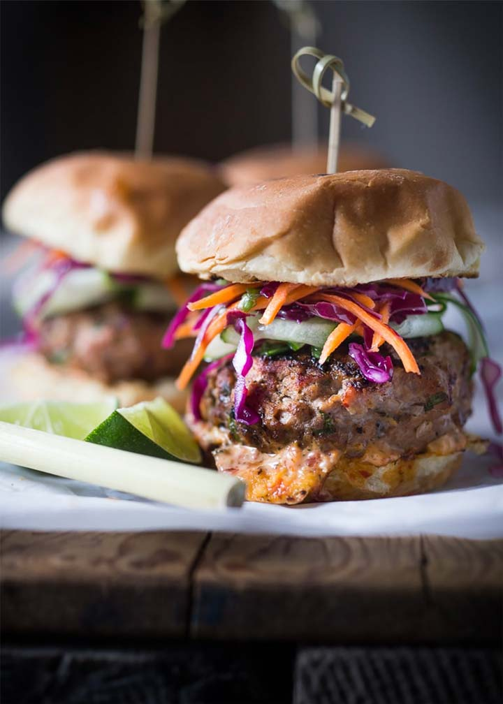 Thai Turkey Burgers with Asian Slaw - Global Animal Partnership - #MakeitGAP Recipe