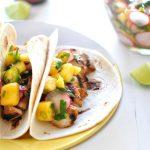 Grilled Turkey Tacos with Mango Radish Salsa