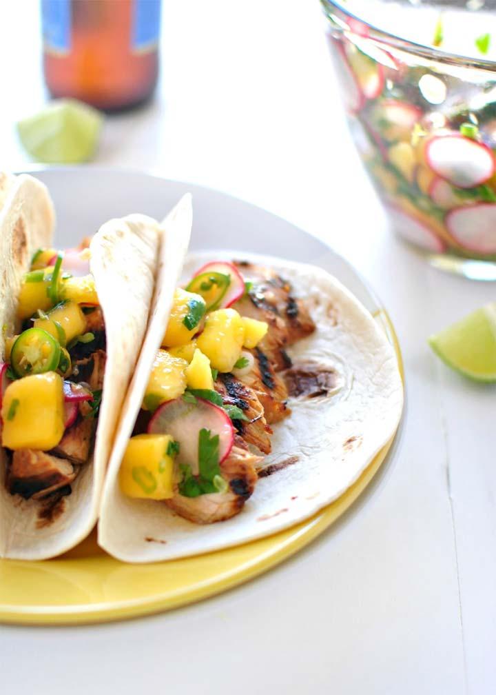 Grilled Turkey Tacos with Mango Radish Salsa - #MakeitGAP Recipe