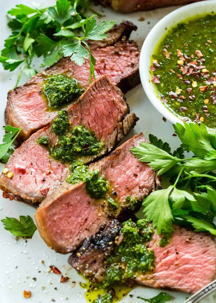 Strip Steak with Chimichurri Sauce - #MakeitGAP Recipe