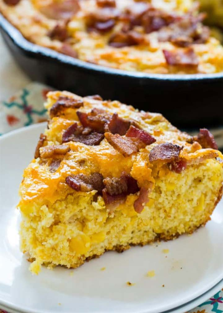 Bacon Cheddar Cornbread - #MakeitGAP Recipe