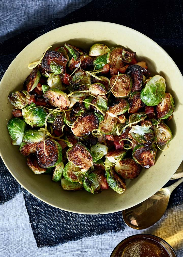 Crispy Brussels Sprouts with Pancetta and Lemon - #MakeitGAP Recipe