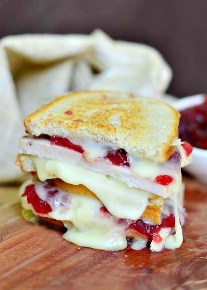 Turkey Cranberry Brie Grilled Cheese Sandwich - MakeitGAP Recipe