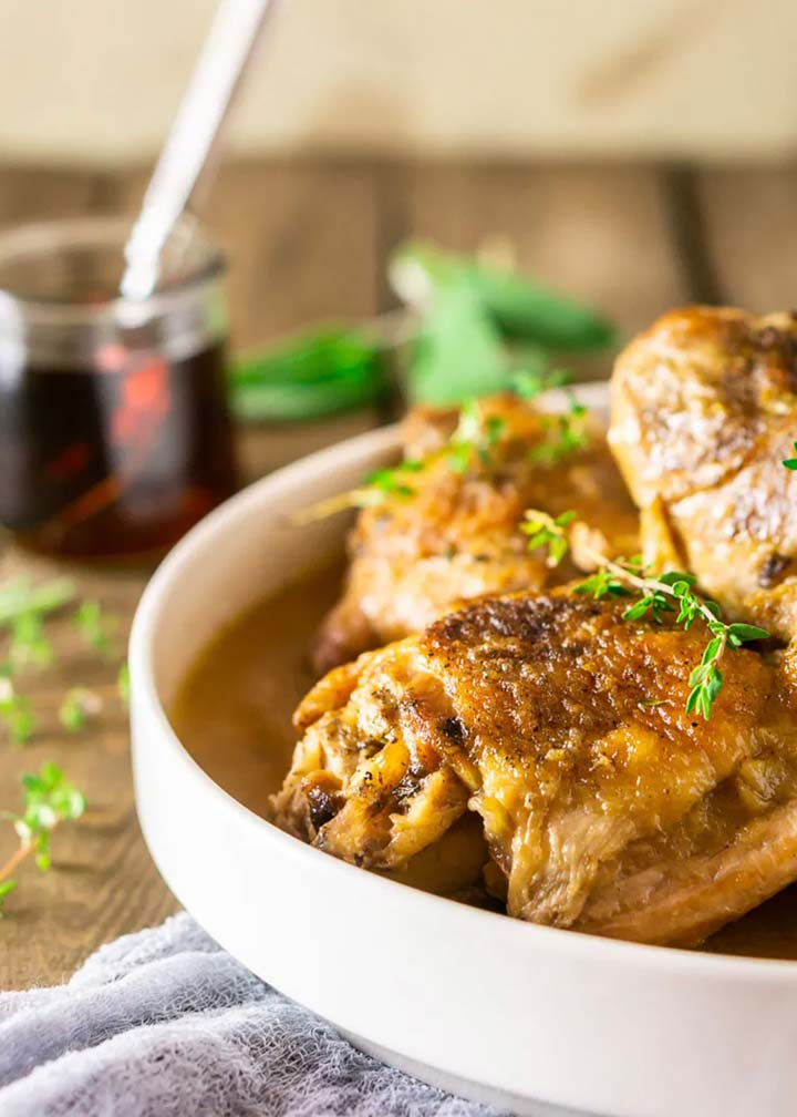 Maple-Braised Turkey Legs and Thighs - #MakeitGAP Recipe
