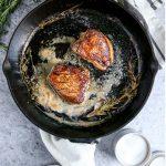 Cast Iron Filet Mignon with Creamy Peppercorn Sauce
