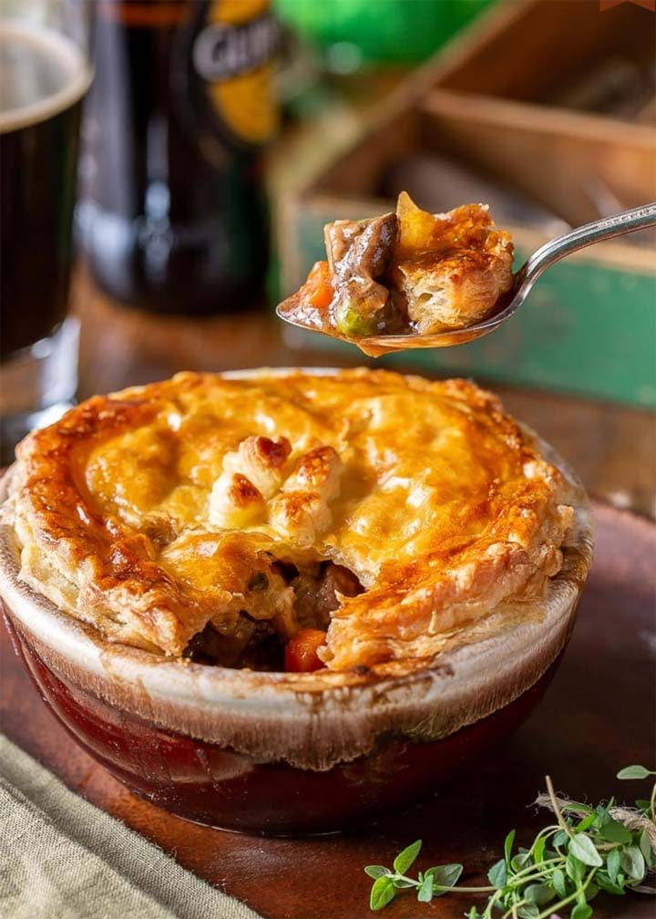 Irish Stout Beef Pies - #MakeItGAP Recipe