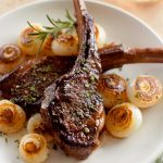 Lamb Chops with Cipollini Onions