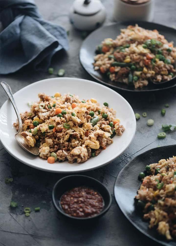 15-Minute Pork Fried Rice - G.A.P. Recipe - #MakeItGAP