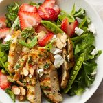 Strawberry Chicken Salad with Mint and Goat Cheese