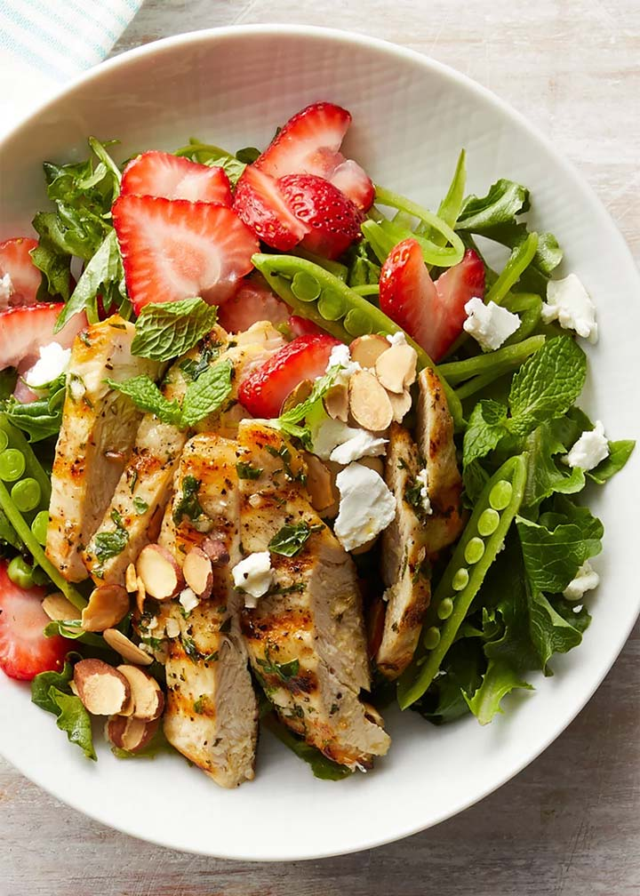 Strawberry Chicken Salad with Mint and Goat Cheese - #MakeItGAP Recipe