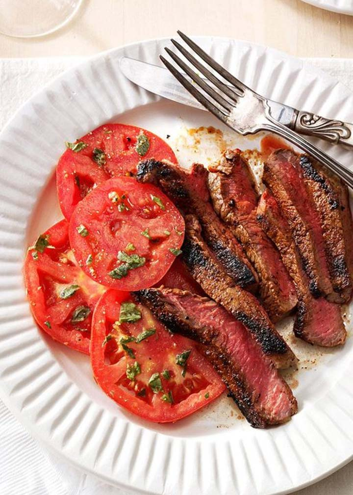 Grilled Steaks with Marinated Tomatoes - #MakeItGAP Recipe