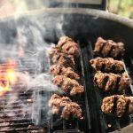 Grilled Korean Gochujang Beef Kebabs on the Kamado Joe