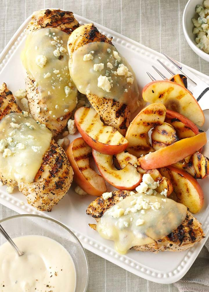 Chicken Alfredo with Grilled Apples - #MakeItGAP Recipe