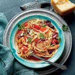 Slow Cooker Chicken Cacciatore with Spaghetti