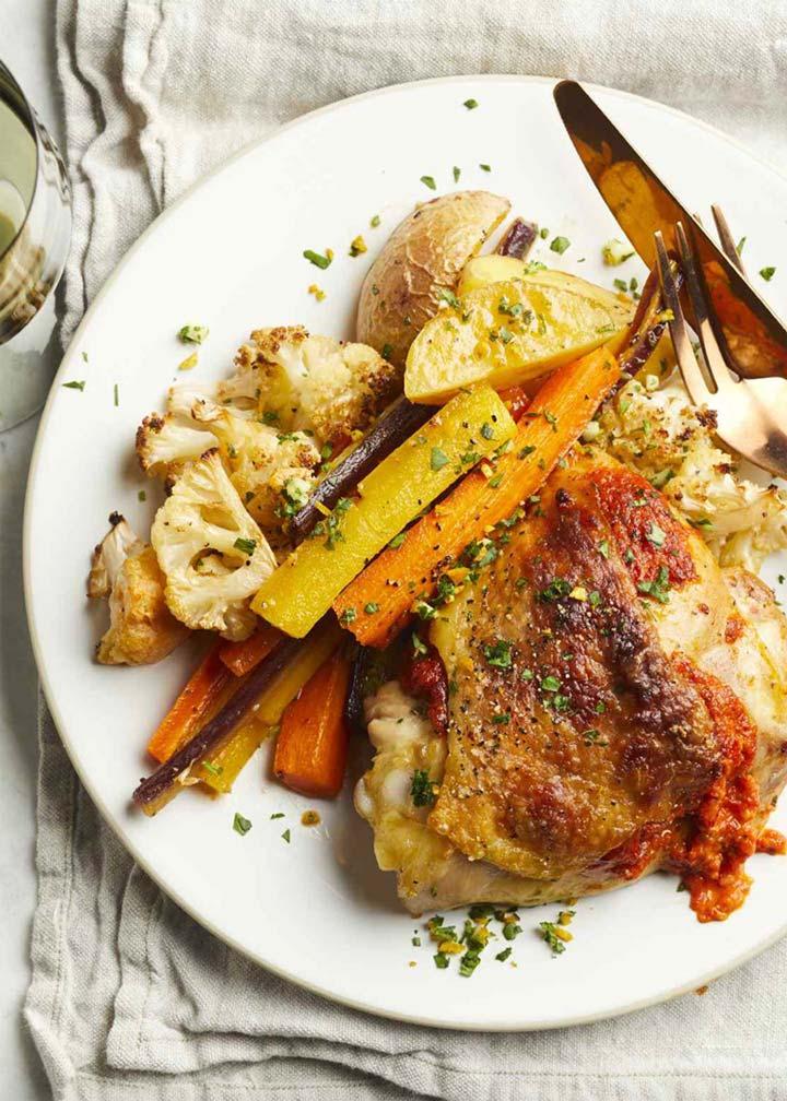 Sheet Pan Harissa Chicken Dinner - #MakeItGAP Recipe